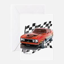 Mustang 1973 Greeting Card