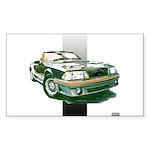 Mustang 1987 - 1993 Rectangle Sticker 10 pk)