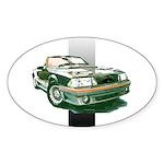 Mustang 1987 - 1993 Oval Sticker (10 pk)