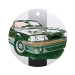 Mustang 1987 - 1993 Ornament (Round)