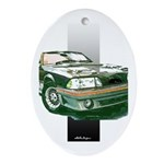 Mustang 1987 - 1993 Oval Ornament