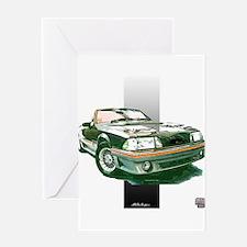 Mustang 1987 - 1993 Greeting Card