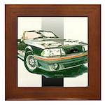 Mustang 1987 - 1993 Framed Tile