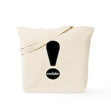 Exclaim! tote bag