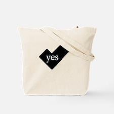 'You say yes, I say no' tote bag