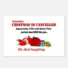 Christmas canceled Postcards (Package of 8)