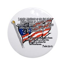 Pledge of Allegiance Psalm 33 Ornament (Round)