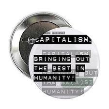 Capitalism-Green Beast Button