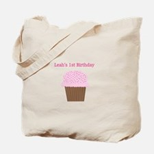Leah's First Birthday Cupcake Tote Bag