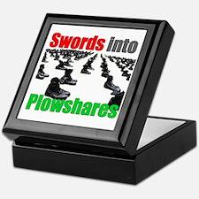 Swords into Plowshares Keepsake Box