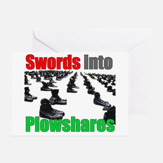 Swords into Plowshares Greeting Cards (Package of