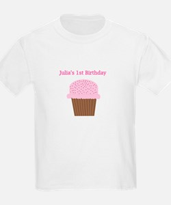 Julia's First Birthday Cupcak T-Shirt