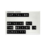 Capitalism is Evil Rectangle Magnet (10 pack)