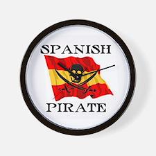 Spanish Pirate Wall Clock