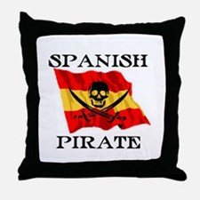 Spanish Pirate Throw Pillow