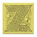 Celtic Letter Z Tile Coaster