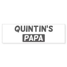 Quintins Papa Bumper Bumper Sticker