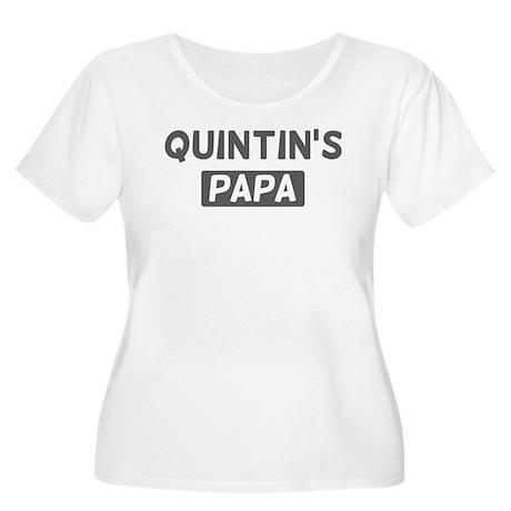 Quintins Papa Women's Plus Size Scoop Neck T-Shirt