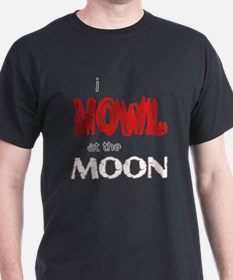 I Howl at the Moon T-Shirt - Red