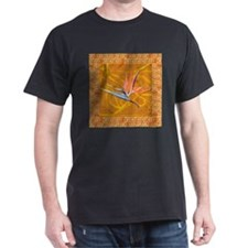 Black Bird of paradise (gold) T-Shirt