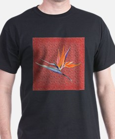 Black Bird of paradise (red) T-Shirt