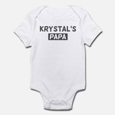 Krystals Papa Infant Bodysuit