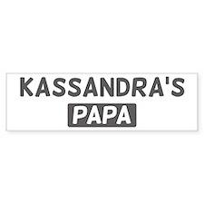 Kassandras Papa Bumper Car Car Sticker