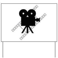 Hollywood Film Camera Yard Sign