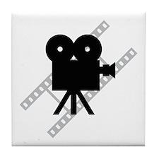 Hollywood Film Camera Tile Coaster