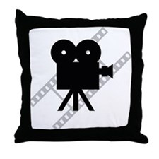 Hollywood Film Camera Throw Pillow