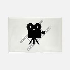 Hollywood Film Camera Rectangle Magnet