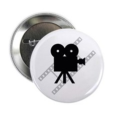 """Hollywood Film Camera 2.25"""" Button (10 pack)"""