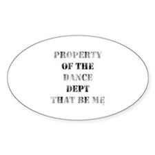 Dance Dept Oval Decal