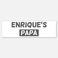 Enriques Papa Bumper Bumper Stickers