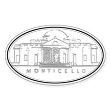 Monticello Oval Decal