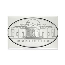 Monticello Rectangle Magnet