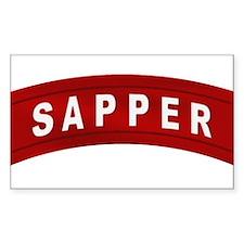 Sapper Tab Rectangle Decal
