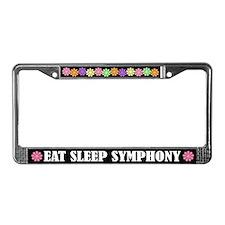 Eat Sleep Symphony License Plate Frame
