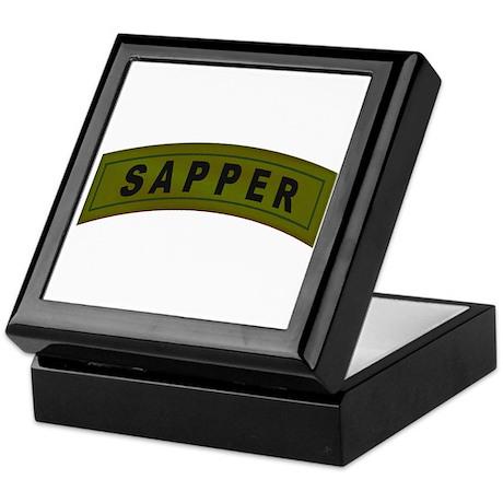 Sapper Tab Keepsake Box