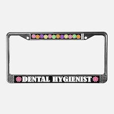 Pretty Dental Hygienist License Plate Frame