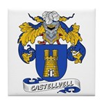 Castellvell Coat of Arms Tile Coaster