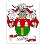 Cavero Coat of Arms Small Poster
