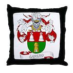 Cavero Coat of Arms Throw Pillow