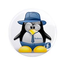 """Fedora Tux 3.5"""" Button"""