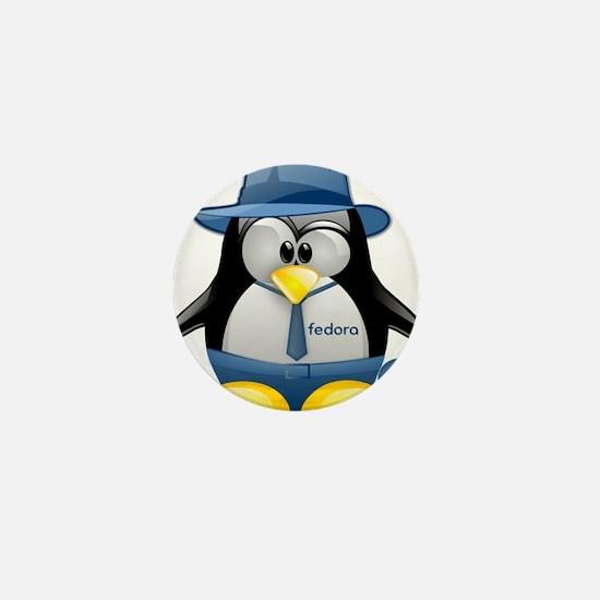 Fedora Tux Mini Button