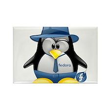 Fedora Tux Rectangle Magnet (100 pack)