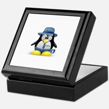 Fedora Tux Keepsake Box