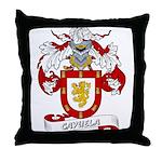 Cayuela Coat of Arms Throw Pillow