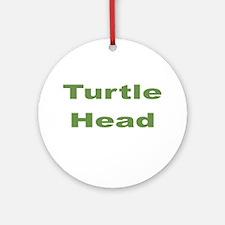Turtle Head Ornament (Round)