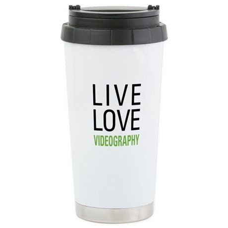 Live Love Videography Stainless Steel Travel Mug